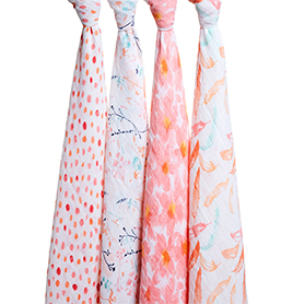 petal blooms 4-pack classic swaddles