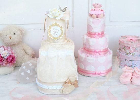 女の子 おむつケーキ