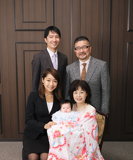 スタジオアリス 家族写真
