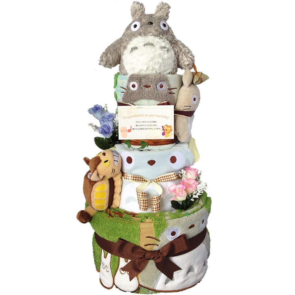 出産祝いに大人気!おむつケーキ となりのトトロ