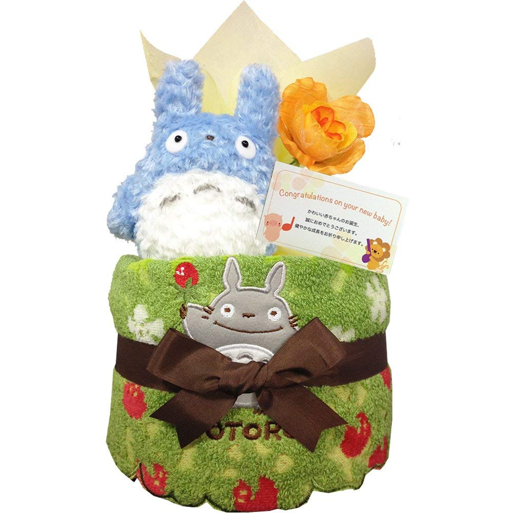 出産祝いにとなりのトトロのおむつケーキ