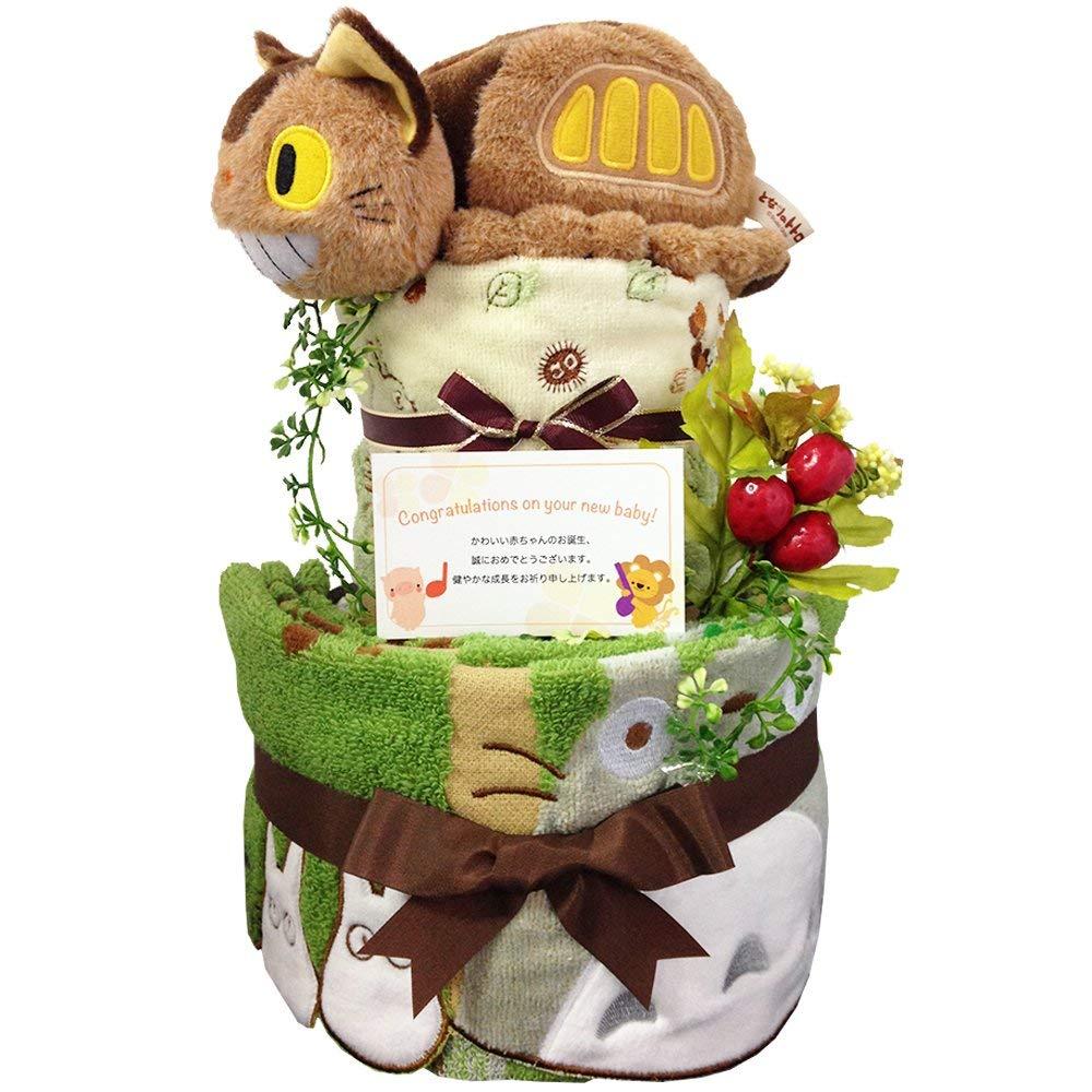 トトロ ネコバス おむつケーキ