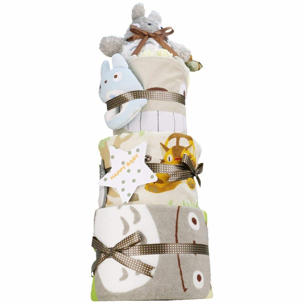 出産祝い スタジオジブリ となりのトトロ 超豪華3段 おむつケーキ