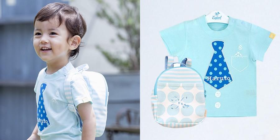 プリティパッチTシャツ(80・90cm)+シェリベビーリュック タイ ブルー