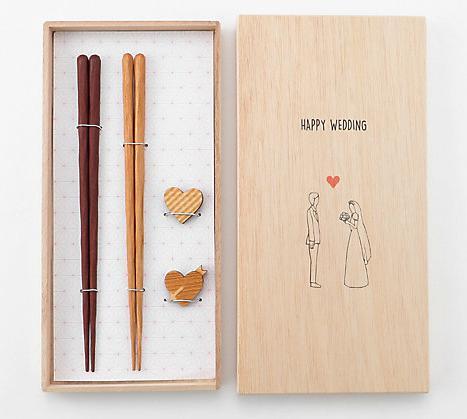 HAPPY WEDDING 夫婦セット 木箱入