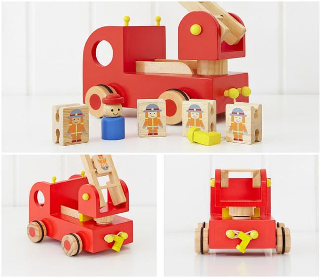 消防車の積み木